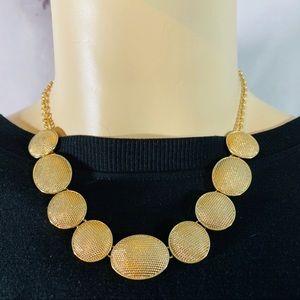 Monet gold tone necklace